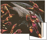 The Invincible Iron Man No.19 Group: Iron Man Wood Print by Butch Guice