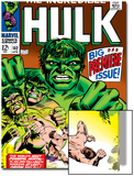 Marvel Comics Retro: The Incredible Hulk Comic Book Cover No.102, Big Premiere Issue Prints