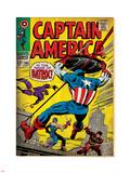 Marvel Comics Retro: Captain America Comic Book Cover No.105, Batroc (aged) Plastic Sign