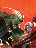 Fear Itself: Hulk vs Dracula No.1 Cover: Hulk and Dracula Fighting and Screaming Plastic Sign by Gabriele DellOtto