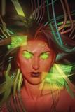 Red She-Hulk 61 Cover: Red She-Hulk Plastic Sign by Jana Schrimer