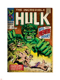 Marvel Comics Retro: The Incredible Hulk Comic Book Cover No.102, Big Premiere Issue (aged) Plastic Sign