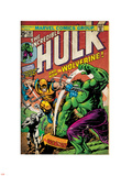 Marvel Comics Retro: The Incredible Hulk Comic Book Cover No.181, with Wolverine (aged) Plastic Sign