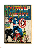 Marvel Comics Retro: Captain America Comic Book Cover No.100, with Black Panther, Thor, Namor Plastic Sign