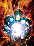 Ultimate Armor Wars No.4 Cover: Iron Man Plastic Sign by Brandon Peterson