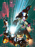 Ultimate Comics Armor War No.3 Cover: Iron Man Plastic Sign by Brandon Peterson
