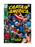 Marvel Comics Retro: Captain America Comic Book Cover No.112, Album Issue! Wall Decal
