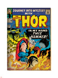 Marvel Comics Retro: The Mighty Thor Comic Book Cover No.120, Journey into Mystery (aged) Plastic Sign