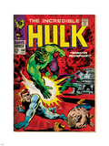 Marvel Comics Retro: The Incredible Hulk Comic Book Cover No.108, with Nick Fury (aged) Plastic Sign