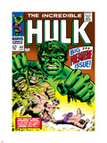 Marvel Comics Retro: The Incredible Hulk Comic Book Cover No.102, Big Premiere Issue Plastic Sign