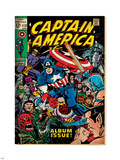 Marvel Comics Retro: Captain America Comic Book Cover No.112, Album Issue! (aged) Plastic Sign
