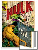 Marvel Comics Retro: The Incredible Hulk Comic Book Cover No.109, the Lost Land of Ka-Zar (aged) Poster