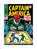 Marvel Comics Retro: Captain America Comic Book Cover No.103, Red Skull, the Weakest Link Plastic Sign