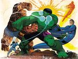 Fall of the Hulks: Gamma No.1 Group: Hulk, Thing, Invisible Woman, Mr. Fantastic and Human Torch Plastic Sign by John Romita Jr.