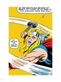 Marvel Comics Retro: Mighty Thor Comic Panel, Swinging Hammer Plastic Sign