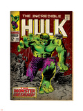 Marvel Comics Retro: The Incredible Hulk Comic Book Cover No.105 (aged) Plastic Sign
