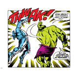 Marvel Comics Retro: The Incredible Hulk Comic Panel, Fighting, Thwak! Wall Decal
