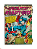 Marvel Comics Retro: Captain America Comic Panel, The Inconceivable Adaptoid! with Bucky (aged) Plastic Sign