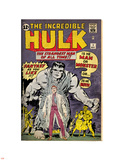 Marvel Comics Retro: The Incredible Hulk Comic Book Cover No.1, with Bruce Banner (aged) Plastic Sign