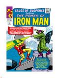 Marvel Comics Retro: The Invincible Iron Man Comic Book Cover No.54, Mandarin's Revenge! Plastic Sign