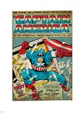 Marvel Comics Retro: Captain America Comic Panel; Smashing through Window (aged) Plastic Sign