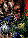 She-Hulk No.35 Cover: She-Hulk and Ursa Major Plastic Sign by Mike Deodato