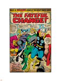 Marvel Comics Retro: Mighty Thor Comic Panel, Tales of Asgard, the Fateful Change! (aged) Wall Decal