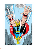 Marvel Comics Retro: Mighty Thor Comic Panel, Flying Plastic Sign