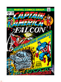 Marvel Comics Retro: Captain America Comic Book Cover No.178, with the Falcon Plastic Sign