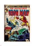Marvel Comics Retro: The Invincible Iron Man Comic Book Cover No.124, Action in Atlantic City Plastic Sign