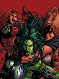She-Hulk No.36 Cover: She-Hulk Plastic Sign by Mike Deodato