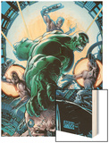 Incredible Hulk No.86 Cover: Hulk Wood Print by Andy Brase