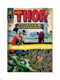 Marvel Comics Retro: The Mighty Thor Comic Book Cover No.130, Thunder in the Netherworld (aged) Plastic Sign