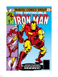Marvel Comics Retro: The Invincible Iron Man Comic Book Cover No.126, Suiting Up for Battle Plastic Sign