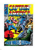 Marvel Comics Retro: Captain America Comic Book Cover No.101, Red Skull, When Wakes the Sleeper Plastic Sign