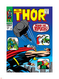 Marvel Comics Retro: The Mighty Thor Comic Book Cover No.141, Who is Replicus Plastic Sign