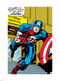 Marvel Comics Retro: Captain America Comic Panel, U.S. naval Hospital Plastic Sign