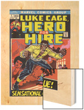 Marvel Comics Retro: Luke Cage, Hero for Hire Comic Book Cover No.1, Origin Wood Print