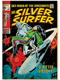 Marvel Comics Retro: Silver Surfer Comic Book Cover No.11, Bitter Victory (aged) Art