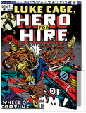 Marvel Comics Retro: Luke Cage, Hero for Hire Comic Book Cover No.11, Wheel of Fortune and Doom Prints
