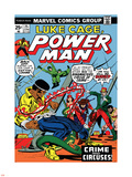Marvel Comics Retro: Luke Cage, Hero for Hire Comic Book Cover No.25, Crime and Circus Plastic Sign
