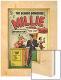 Marvel Comics Retro: Millie the Model Comic Book Cover No.53, Fashion Show Information Booth (aged) Wood Print