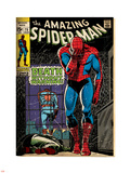 Marvel Comics Retro: The Amazing Spider-Man Comic Book Cover No.75, Death Without Warning! (aged) Plastic Sign