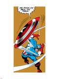 Marvel Comics Retro: Captain America Comic Panel, Throwing Shield Wall Decal