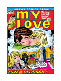 Marvel Comics Retro: My Love Comic Book Cover No.18, Kissing, Love on the Rebound Plastic Sign