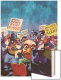 Howard The Duck No.4 Cover: Howard The Duck Wood Print by Juan Bobillo