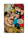 Marvel Comics Retro: Mighty Thor Comic Panel, Hercules (aged) Plastic Sign