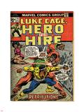 Marvel Comics Retro: Luke Cage, Hero for Hire Comic Book Cover No.14, Fighting Big Ben (aged) Plastic Sign
