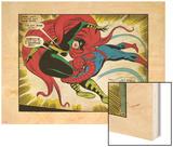 Marvel Comics Retro: The Amazing Spider-Man Comic Panel, Medusa (aged) Wood Print