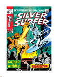 Marvel Comics Retro: Silver Surfer Comic Book Cover No.12, Fighting the Abomination Plastic Sign